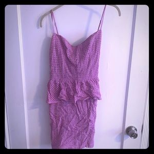 Pink Mauve Mini Dress - new with tags